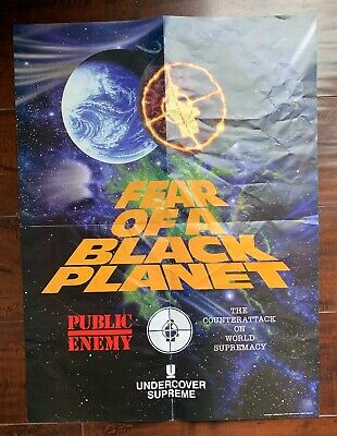 4abdcca1f916 SUPREME/UNDERCOVER PUBLIC ENEMY Fear Of A Black Planet Poster ...