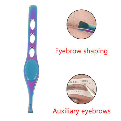 1Pc Eyebrow Tweezers Eyelash Extension Flat Face Deads Skin Removal Clip Trimmer