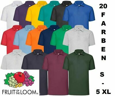 FRUIT OF THE LOOM POLOSHIRT Pique Polo SHIRTS S M L XL XXL 3XL 4XL 5XL NEU!