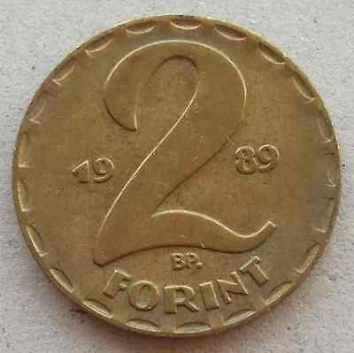 HUNGARY 2 Forint coin * 1989 * KM#591 (H444)