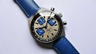 PRISMA GT racing rally stainless steel vintage chronograph valjoux 7765