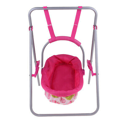 Portable Reborn Doll Baby Cradle Swing Simulation Furniture Toy Playset #2