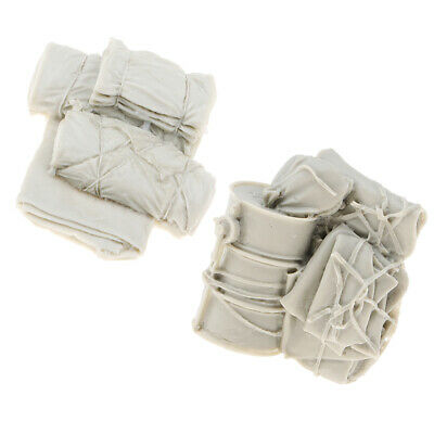 2x 1/35 Scale Resin Canvas Bags Sculpture Soldier Scene Accessories