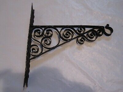 Vintage Rustic Ornate Metal Scroll Plant / Bird Cage Hanger Hook