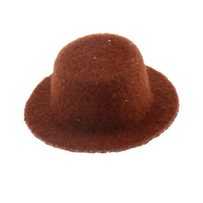 1:12 Scale Dolls House Miniature Bedroom Clothes Accessory Bowler Hat Coffee