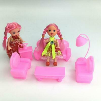 6Pcs Furniture Set Sofa Chair Lamp Table for Kelly Dolls House Toy