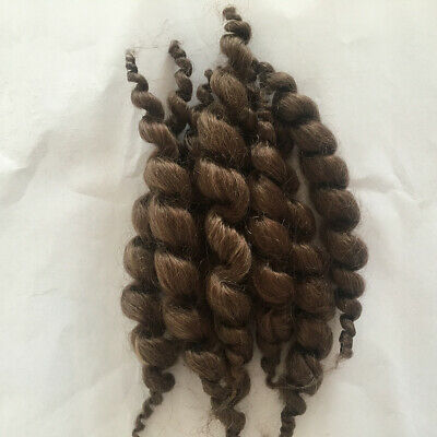 Real Touch 8 Stripes Pure Mohair Curly Hair Wig for Reborn Baby Newborn Doll