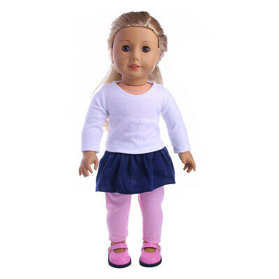 7pcs Clothes for 18/' AG American Doll Doll Sweater Tops Skirt Dress Legging Hat