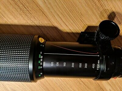 Minolta Zoom Rokkor 100-500mm f/8 Super-Telephoto Camera Zoom Lens A-Mount
