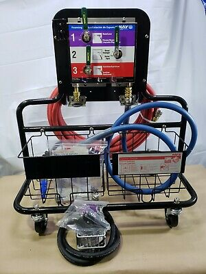 Ecolab Kay Chemical Cart with 3 Lever Foam Rinse Disinfecting Foaming Station