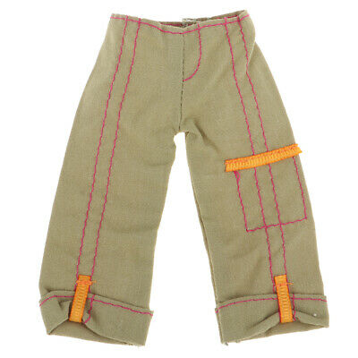 Doll Accessory Casual Pants Trousers For 1/6 BJD Doll Outfits Army Green