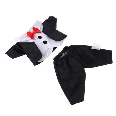 Cute Formal Dress Suit Outfit for 25cm Mellchan Reborn Baby Girl Doll Black