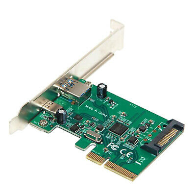 PCI-E 4x Express to USB3.1 USB-C Type C+Type A Add on Expansion Card Adapter