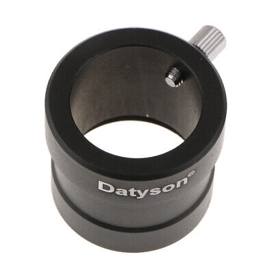 """Metal 1.25"""" to 0.965"""" Telescope Eyepiece Adapter (31.7mm to 24.5mm) Black"""