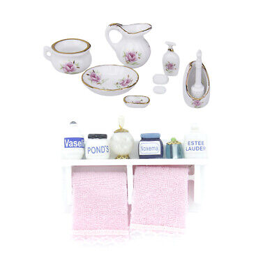 1:12 Scale Bathroom Shower Accessories Doll House Miniature Furniture Accs