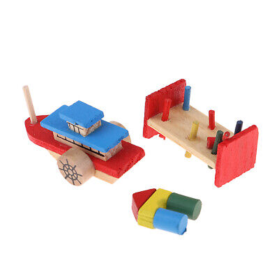 1:12 Doll House Miniatures Wooden Building Blocks for OB 11 Doll Kids Toy