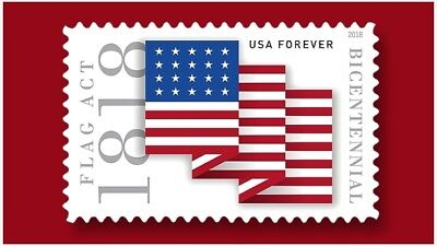 2018 50c Forever Flag Act of 1818, 200th Anniversary Scott 5284 Mint F/VF NH
