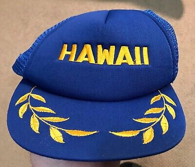 cb690e2c821c1 MAUI HAWAII TRUCKER Snap Back Hat Cap Blue Vintage 80s 90s Surf ...