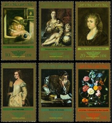 EBS East Germany DDR 1973 Old Masters Gallery Paintings - Michel 1892-1897 MNH**