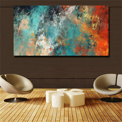 Abstract Clouds Colorful HD print on canvas huge wall picture (31x63)