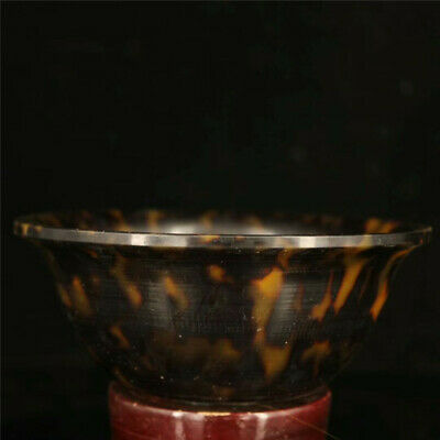 Collection Chinese exquisite Tortoise shell Antique Handmade Bowl