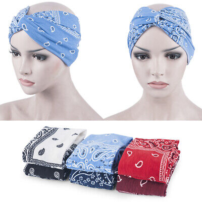 Womens Hair Band Turban Wide Floral Headband Twisted Knotted Yoga Head Wrap Girl