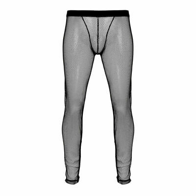 Sexy Men Soft Mesh Transparent Sheer Long johns Pants Leggings Underpants Tight