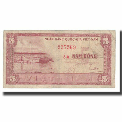 [#566968] Banknote, South Viet Nam, 5 D<ox>ng, Undated (1955), KM:13a, VF(20-25)