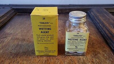 1950'S Vintage Tabloid Photographic Wetting Agent & Contents - Burroughs Welcome