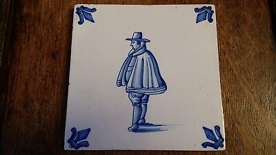 Antique Delft Tile - Dutchman - Good Condition