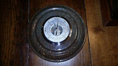 Vintage Large Cornish Serpentine Aneroid Barometer -Good Condition Working Order