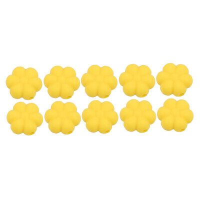 10PCS Food Grade Silicone Beads Set Flower Smaller Beads Teething Beads Toy LT