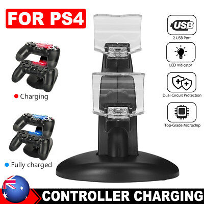 PS4 Controller PlayStation LED Charger Dock Station USB Dual Fast Charging Stand