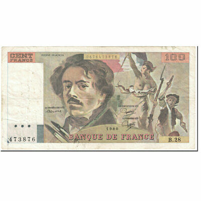 [#604407] France, 100 Francs, 100 F 1978-1995 ''Delacroix'', 1980, Undated