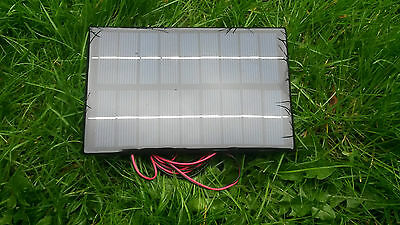 4.2 Watt Resin Solar Panel Charger For 6V Classic Car Or Motorcycle Battery