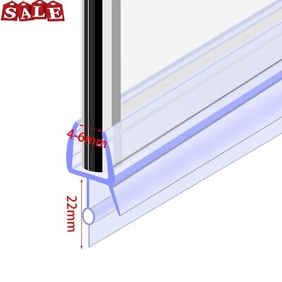 Glass Bath Door Shower Screen Seal Strip /Flat Glass Thickness 4-6mm/ Gap 16mm