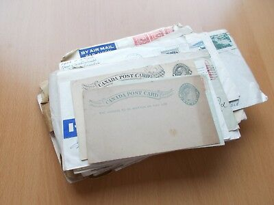 Canada postal history - 72 commercial covers, postcards etc. See pics below.