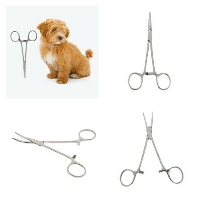 Pet Grooming DOG CAT HEMOSTAT Forcep Tweezer Hair Puller EAR Stainless Steel