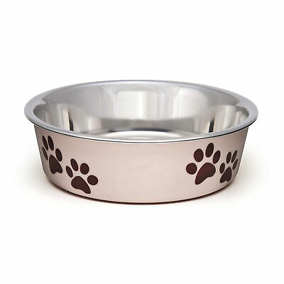 Loving Pets Bella Bowl Paparazzi Pink Small | Stainless Steel Dish for Dogs