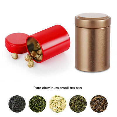 Tin Pot Storage Boxes Makeup Container Sample Canisters Herb Stash Jar Tea Can