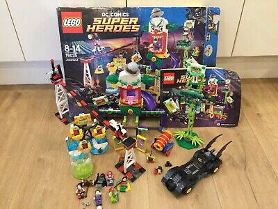 Lego DC Comics Super Heroes 76035 Jokerland and Minifigures Excellent Condition