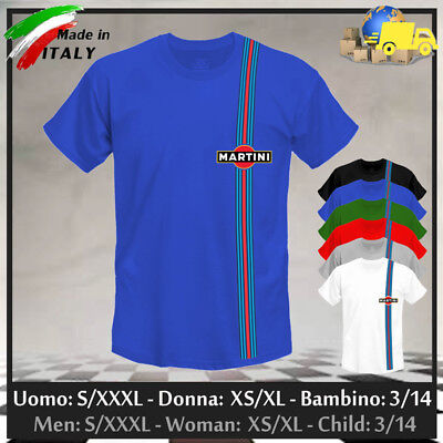 """T-shirt """"MARTINI"""" Racing GP Limited Edition Gulf Cup Rally Vintage, Collez 2019!"""