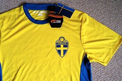 L or XL Official SWEDEN Sverige Soccer Shirt Football TAGS Sverige SVF