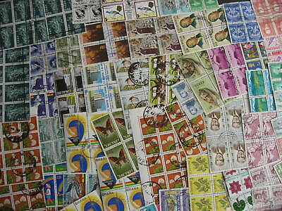 Worldwide, 55 used blocks mixture (duplicates, mixed condition) of 4 or more!