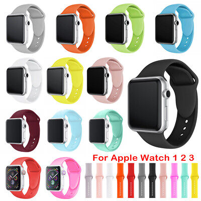 38mm/42mm Replacement Silicone Bracelet Band Strap For Apple Watch iWatch 1/2/3
