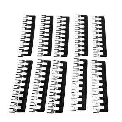 10 Position Double Row Screw Terminal Strip Red Black