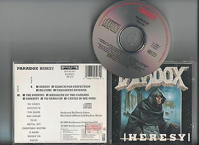 PARADOX - Heresy CD '89 Roadrunner West GermanySoundpress D-1244/R095062A ORG
