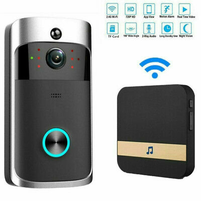 Wireless Ring Doorbell Phone Video Camera Visual Intercom+52Chime Ding-Dong Bell