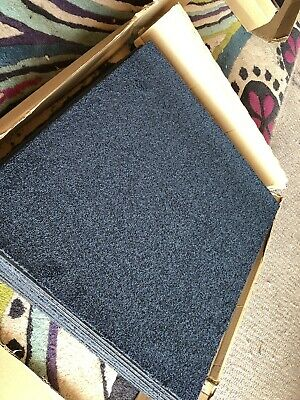 16 x Carpet Tiles 4m2 Box Heavy Duty Commercial Retail Office Blue Black