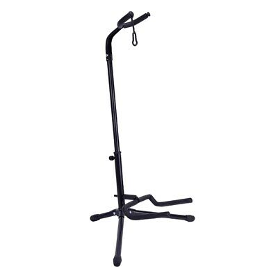 1pc Black Folding Electric Acoustic Bass Guitar Stand Floor Holder Support